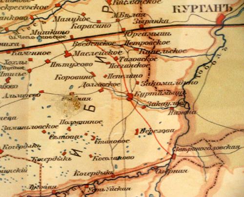 Карта Урала и Приуралья.