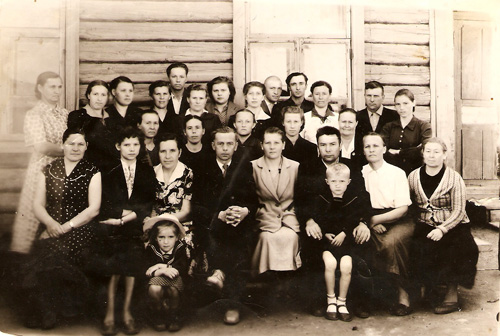 Коллектив Половинской школы. 1959 г.